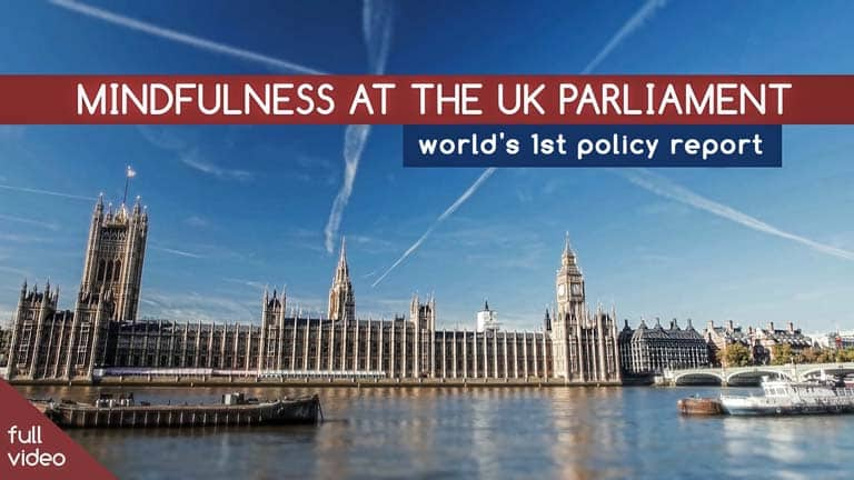 Mindfulness at the UK Parliament Mindful Nation UK